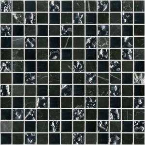 ΨΗΦΙΔΑ - MOSAICO GLASS NEGRO 30X30